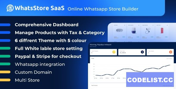 WhatsStore SaaS v1.0 - Online WhatsApp Store Builder