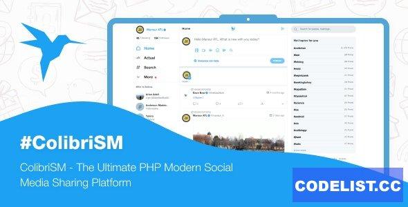 ColibriSM v1.2.1 - The Ultimate PHP Modern Social Media Sharing Platform - nulled