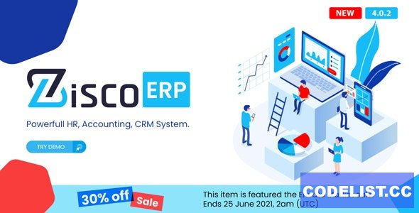 ZiscoERP - Powerful HR, Accounting, CRM System 2 May 2021