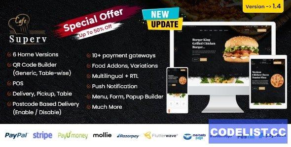 Superv v1.4 - Restaurant Website Management with QR Code Menu