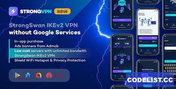 StrongVPN v1.4 - StrongSwan IKEv2 VPN stable & free VPN proxy for Android