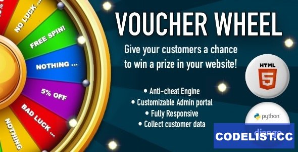 Voucher Wheel v1.0 - Engage and give prizes to your customers