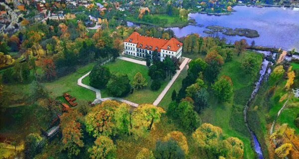 Birzai with the castle Lithuania