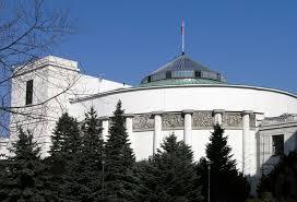 Parliament Warsaw near Lazienki Park