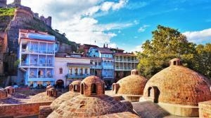 Abanotubani Baths in Tbilisi