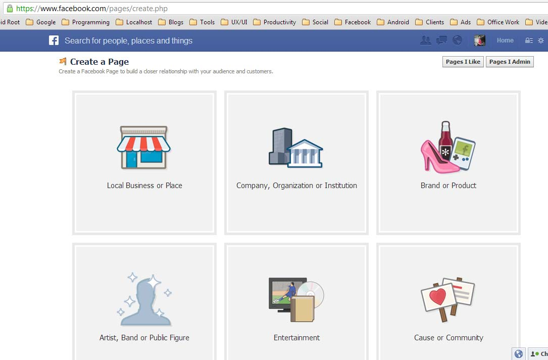 Create a Facebook page.