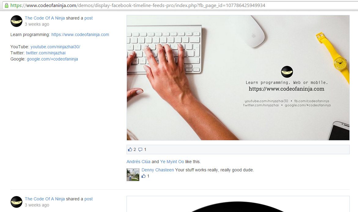 How To Display Facebook Page Posts On Website Using PHP?