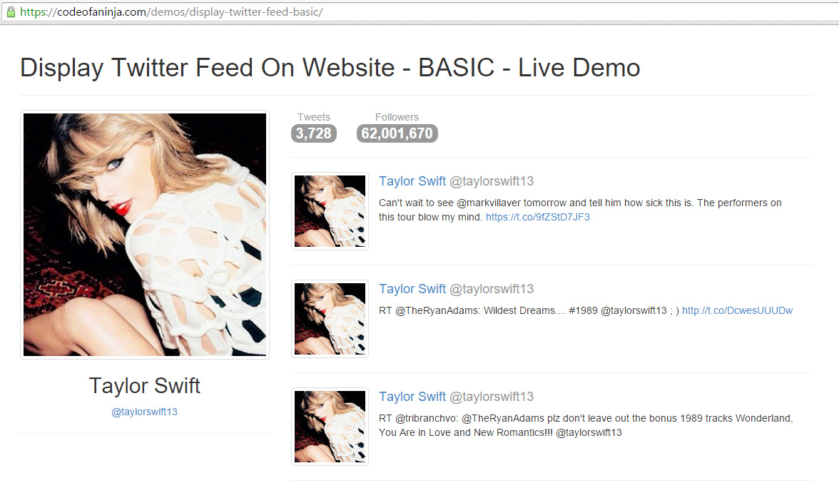 display-twitter-feed-BASIC