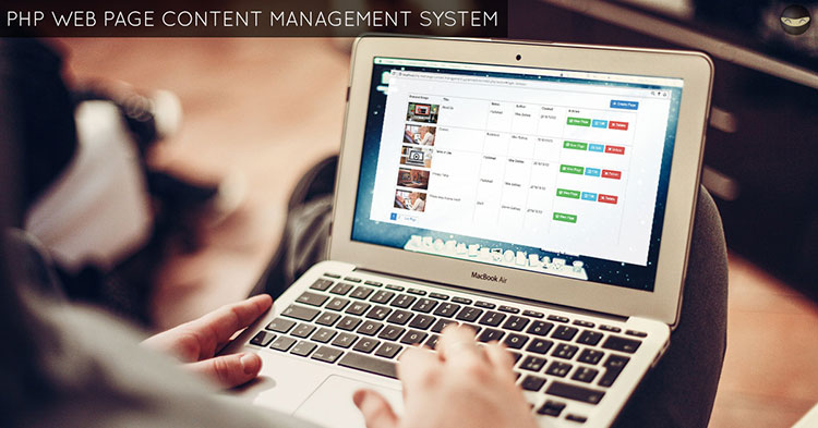 PHP Web Page Content Management System - Download Now!
