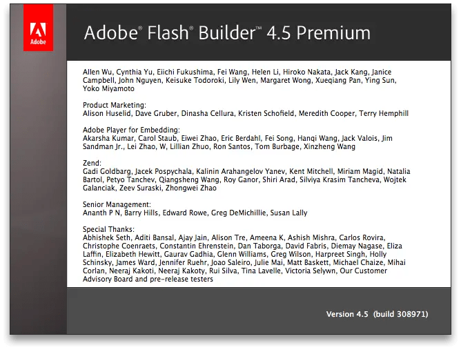 Flash Builder 45 Premium Credits