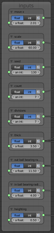 Spinner generator inputs