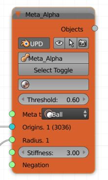 Metaball node