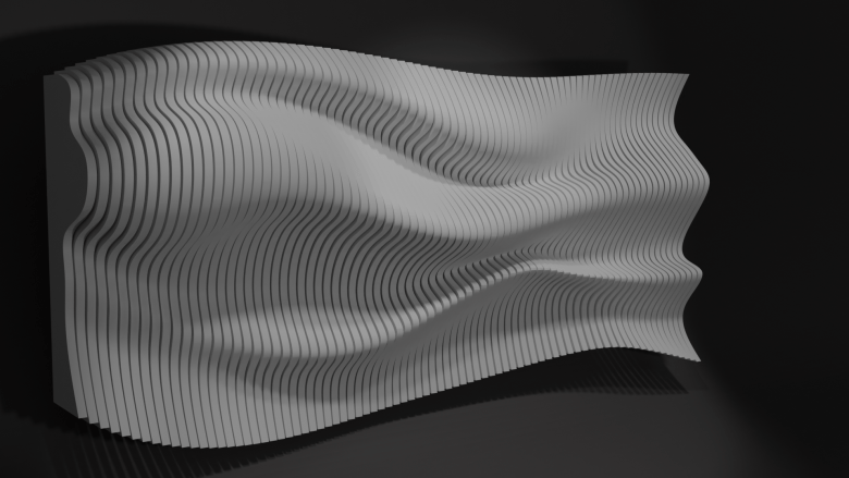 Parametric wall with Blender and Sverchok - Final result