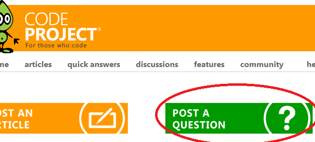 Codeproject Quick Answers Faq Codeproject