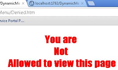 denied access