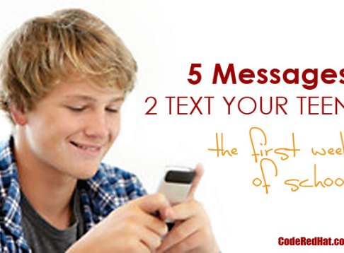 5 Messages To Text Your Teen