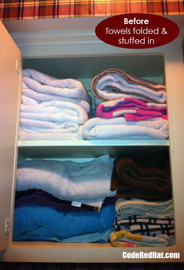 Messy Towel Closet