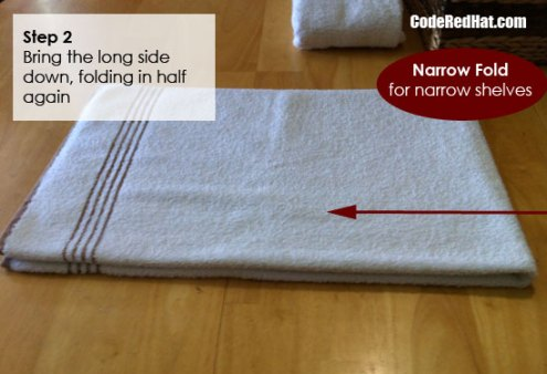 How To Fold Towels Narrow Step 2