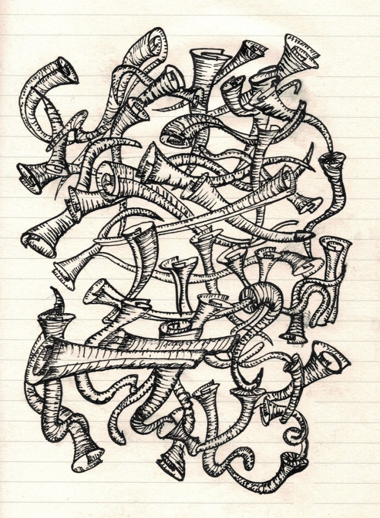 Doodle Tuesday: Tangle of Scrolls