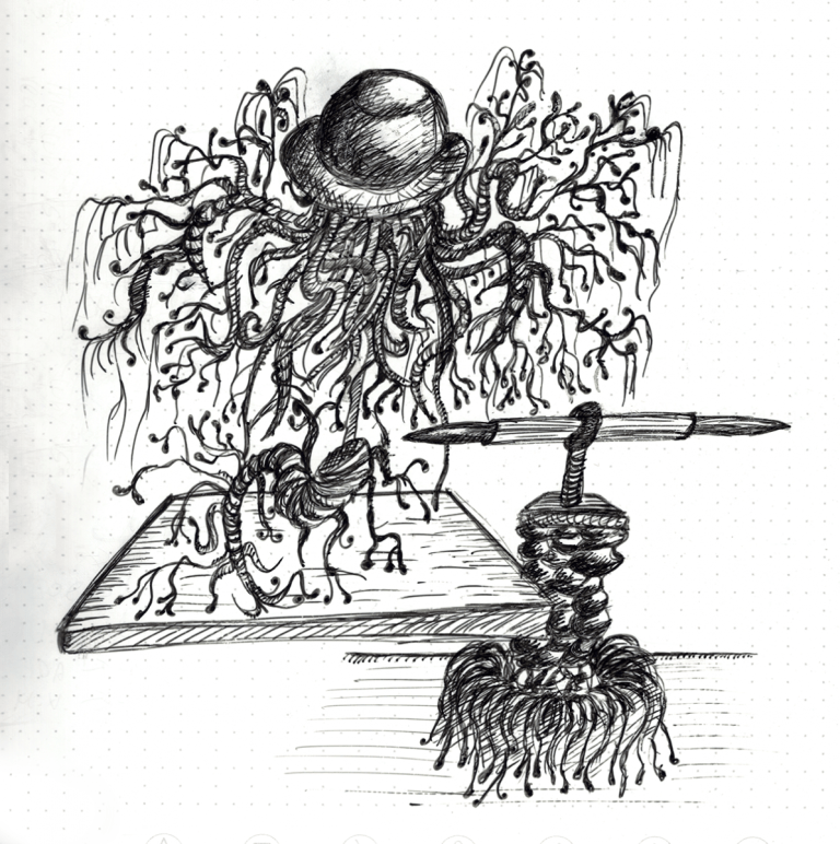 Doodle Tuesday: Weeping Hat