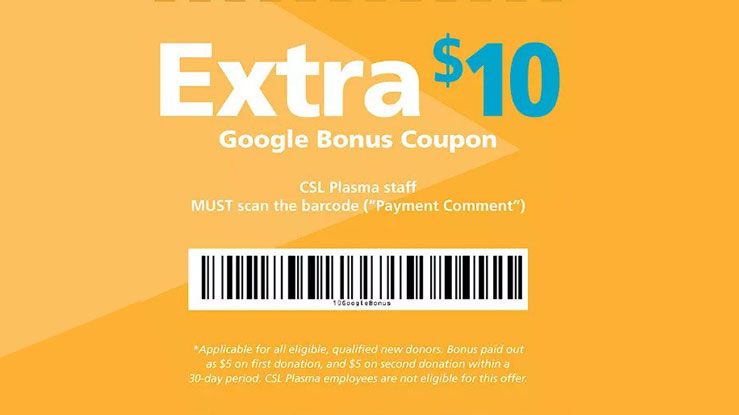 csl plasma coupons