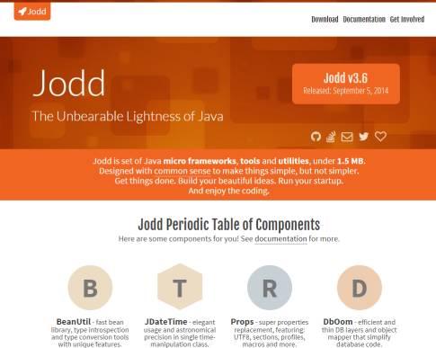 a screenshot of Jodd's main web page