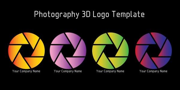 Photography 3D Logo Template Codester