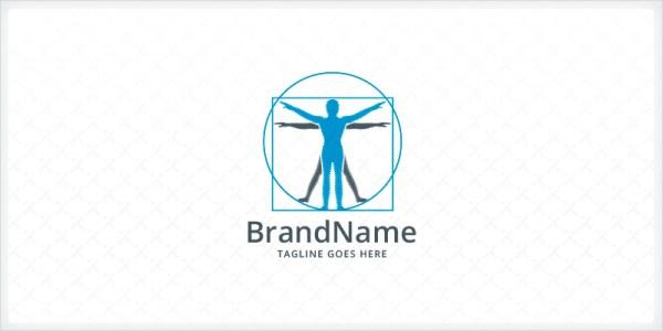 Vitruvian Man Logo Codester