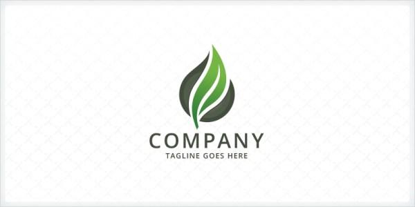 Green Leaf Logo Codester