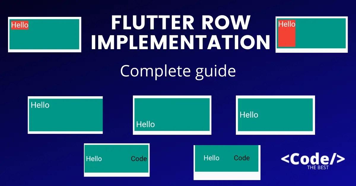 Flutter Row Implementation