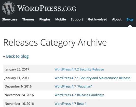 WordPress-org-archive-mise-a-jour