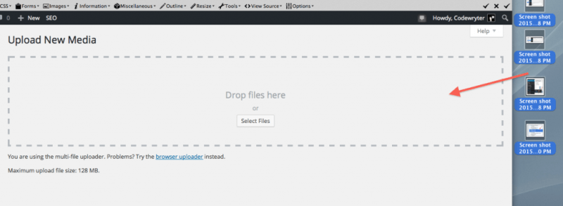 Upload Multiple Images to WordPress