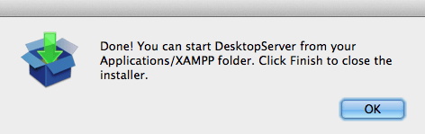 Find Under Applications XAMPP
