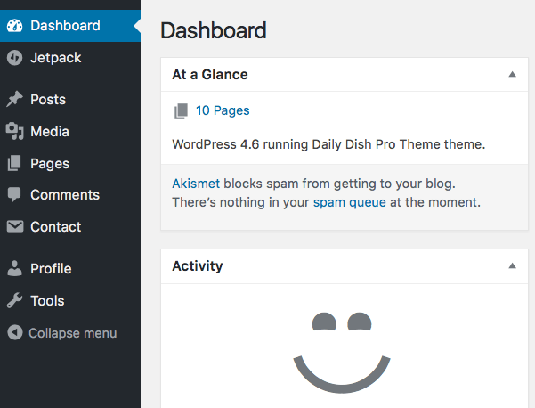 See Your WordPress Dashboard