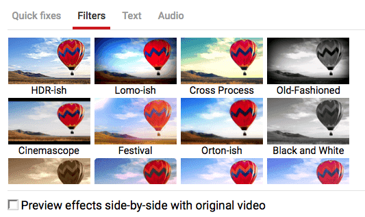 Using YouTube Filters