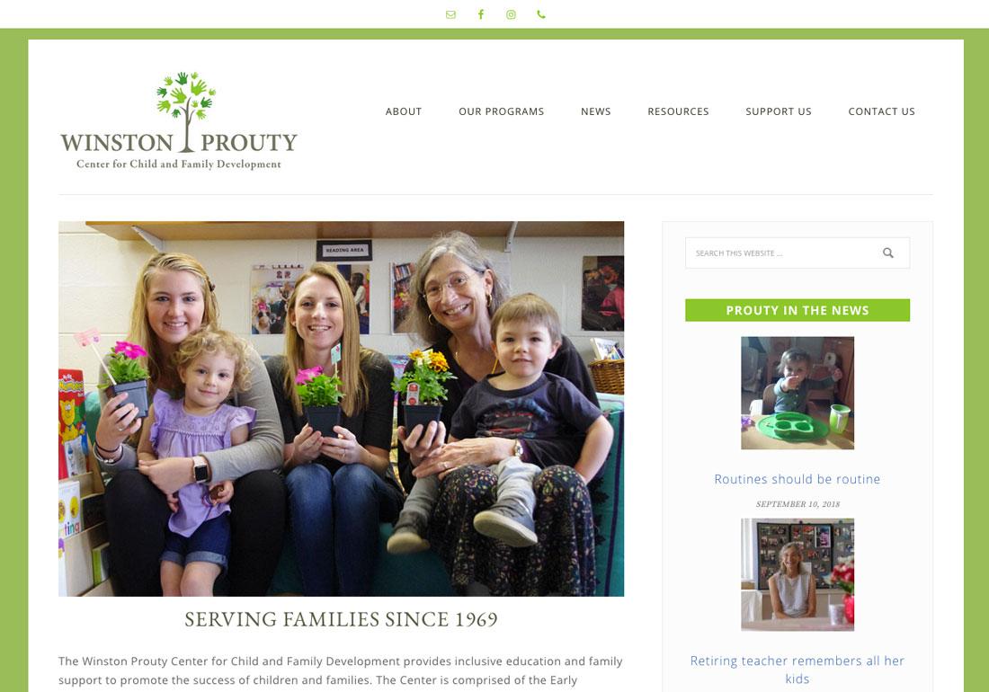 Winston Prouty Website Re-Design