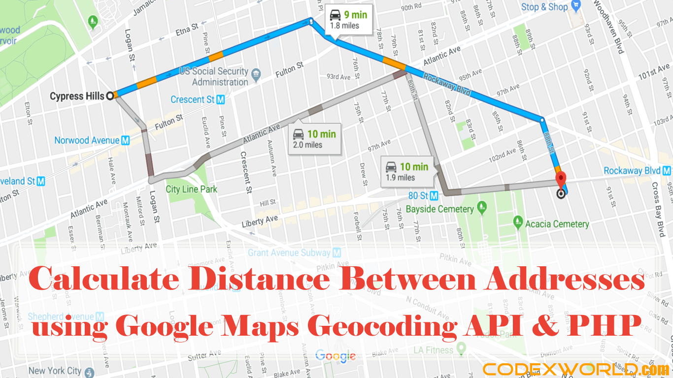 World Map Distance Calculator.Distance Between Two Addresses Using Google Maps Api And Php