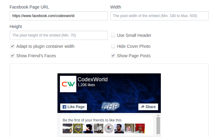 facebook-page-plugin-creation-by-codexworld