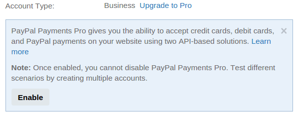 paypal-sandbox-business-account-enable-pro-by-codexworld