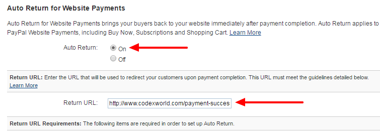 configure-paypal-business-account-auto-return-url-on-codexworld