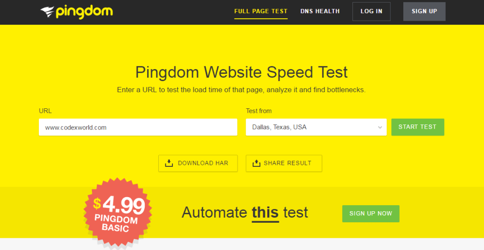 Online Free Tools to Test Website Speed and Performance - CodexWorld