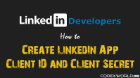 create-linkedin-app-client-id-client-secret-codexworld