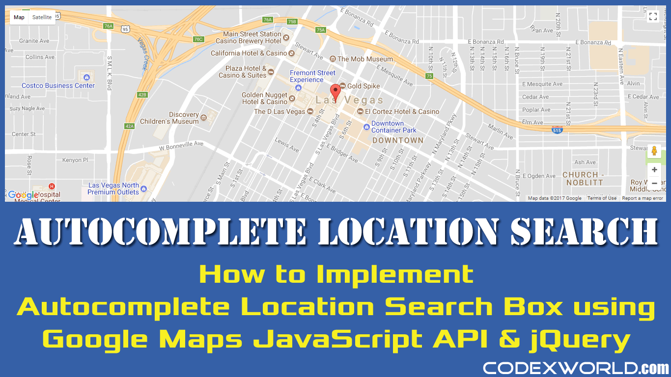 Autocomplete location search using google maps javascript api and autocomplete location search box google maps javascript api gumiabroncs Gallery