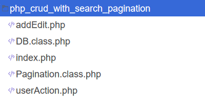 php-crud-with-search-pagination-files-structure-codexworld