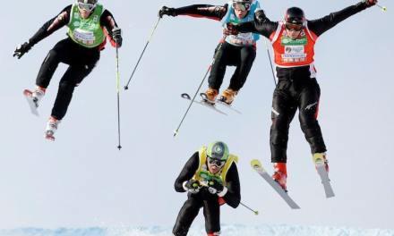 Le skicross. Discipline hybride née aux X-Games et récupérée par les J.O