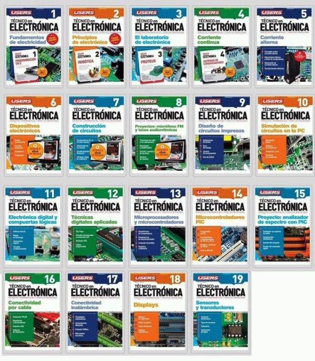 pack de libros de electronica – pdf – mega