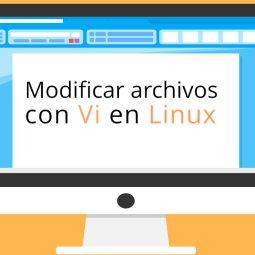 Editar archivos con Vi en Linux