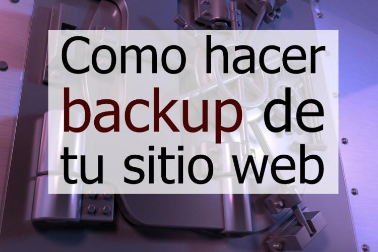 Backup de sitios web