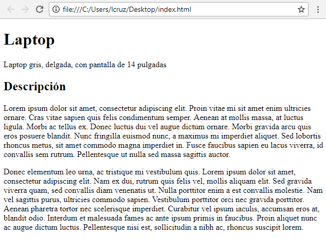 Tarea - Curso HTML: Parrafos