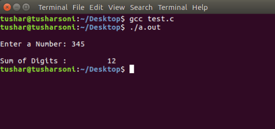 C Program To Find Sum of Digits of Number using Recursion